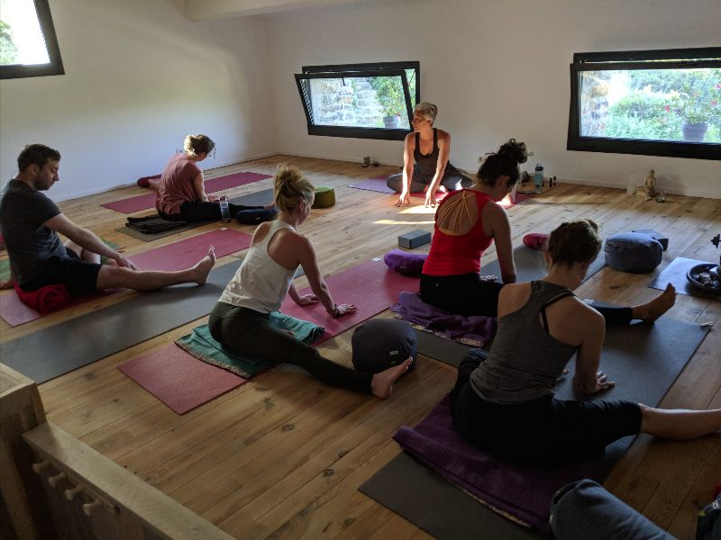 indoor yoga studio